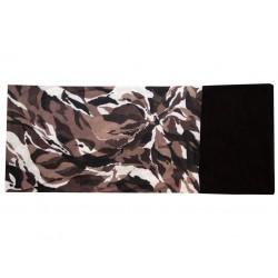 Novia multifunkční šátek fleece 101 maskáč  hnědý zimní tubus