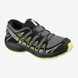 Salomon XA Pro 3D CSWP J 411241 gargoyle/black/charlock dětské nízké nepromokavé boty