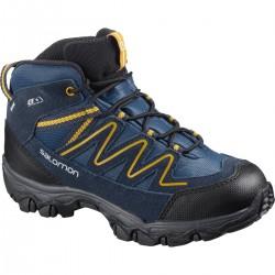 Salomon Skookie Mid CSWP J sargasso sea/navy blazer 411295 dětské nepromokavé boty