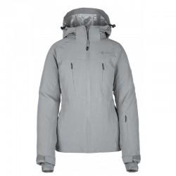 Kilpi Addison-W šedá dámská nepromokavá zimní lyžařská bunda 10000
