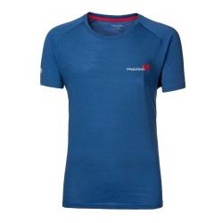 Progress Aries modrá pánské triko kratký rukáv merino vlna