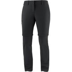 Salomon Wayfarer Zip Off Pants W black C14899 dámské odepínací turistické lehké kalhoty