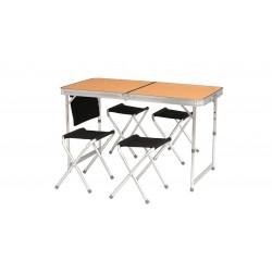 Easy Camp Belfort Picnic Table set kompingového stolu a židliček