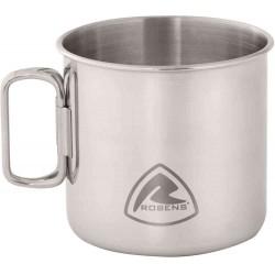 Robens Pike Steel Mug 450 ml nerezový hrnek se skládacími uchy