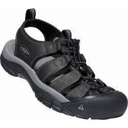 Keen Newport M black steel grey pánské kožené outdoorové sandály