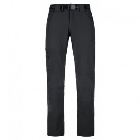 Kilpi James-M černá pánské lehké funkční rychleschnoucí turistické kalhoty