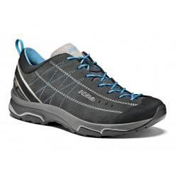 Asolo Nucleon GV ML GTX graphite/silver/cyan blue dámské nízké nepromokavé kožené boty