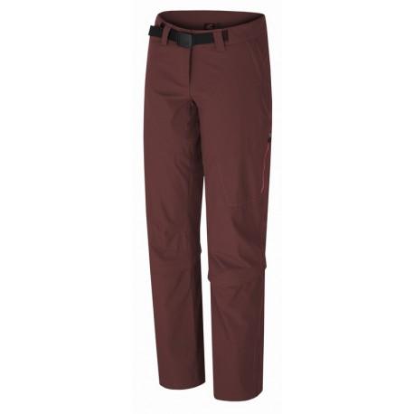 Hannah Libertine zinfandel dámské lehké odepínací turistické outdoorové kalhoty